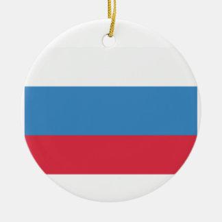 Twitter emoji - Russia Flag Ceramic Ornament