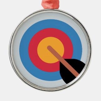 Twitter Emoticon - target archery Adorno Navideño Redondo De Metal