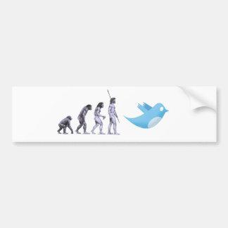 Twitter Evolution Car Bumper Sticker