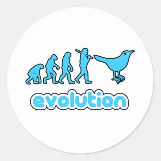 Twitter evolution classic round sticker