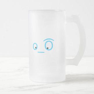 twitter eyeballs 16 oz frosted glass beer mug