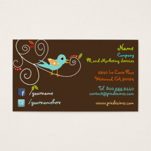 Facebook icon business cards templates zazzle twitterfacebook business cards cheaphphosting Image collections