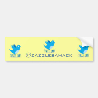 Twitter Follow Me Bumper Sticker Car Bumper Sticker