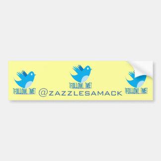 Twitter Follow Me Bumper Sticker