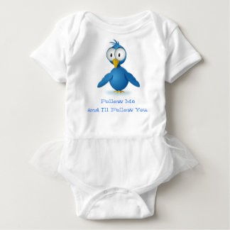 Twitter Follow Me @ Your User Name Baby Bodysuit