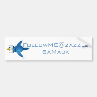 Twitter Follow Me @ Your User Name Car Bumper Sticker