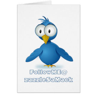 Twitter Follow Me @ Your User Name Card