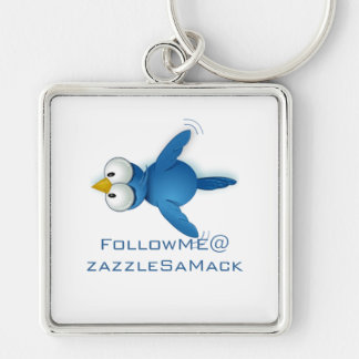 Twitter Follow Me @ Your User Name Key Chains