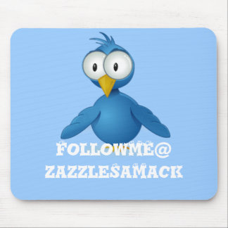 Twitter Follow Me @ Your User Name Mouse Pad