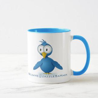 Twitter Follow Me @ Your User Name Mug