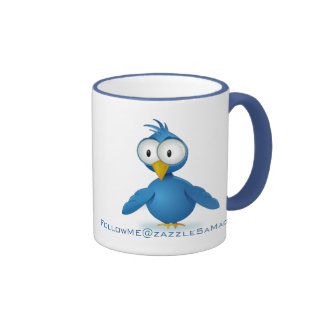 Twitter Follow Me @ Your User Name Ringer Coffee Mug