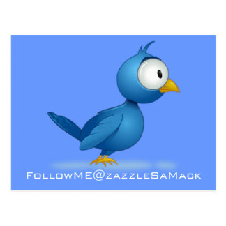 Twitter Follow Me @ Your User Name Postcard