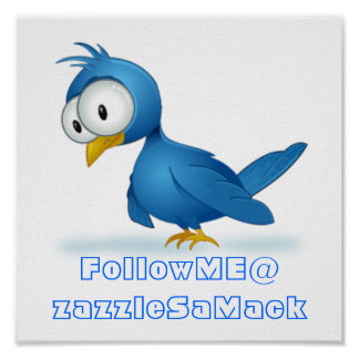 Twitter Follow Me @ Your User Name Poster