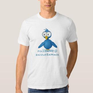 Twitter Follow Me @ Your User Name T Shirt