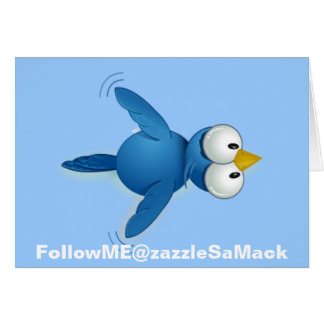 Twitter Follow Me @ Your User Name Thank You Card