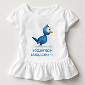 Twitter Follow Me @ Your User Name Toddler T-shirt