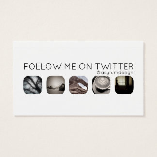 twitter followers business card