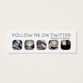 twitter followers mini business card