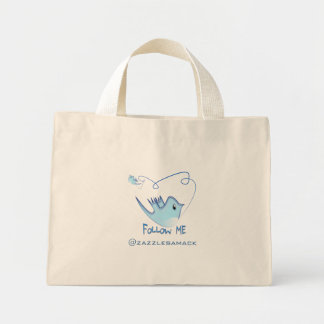 Twitter Gifts With Your User Name Follow Me Birdie Tote Bag