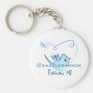 Twitter Gifts With Your User Name Follow Me Birdie Keychain