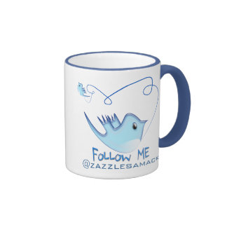 Twitter Gifts With Your User Name Follow Me Birdie Mug