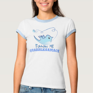 Twitter Gifts With Your User Name Follow Me Birdie Shirt
