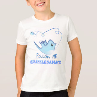 Twitter Gifts With Your User Name Follow Me Birdie T-Shirt
