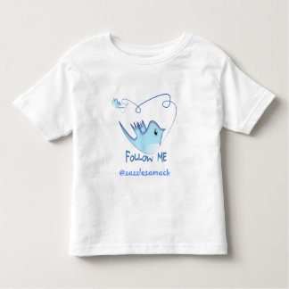 Twitter Gifts With Your User Name Follow Me Birdie Toddler T-shirt