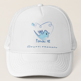 Twitter Gifts With Your User Name Follow Me Birdie Trucker Hat