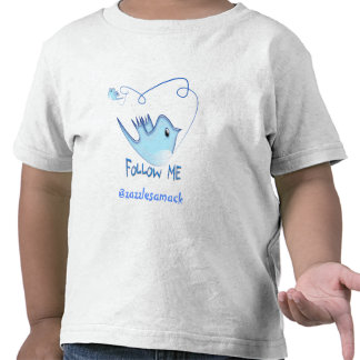 Twitter Gifts With Your User Name Follow Me Birdie T Shirts