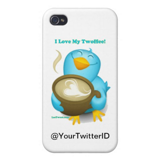 Twitter ID I Love My Twoffee Gifts Apparel iPhone 4/4S Cover