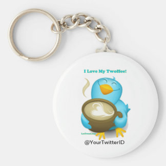Twitter ID I Love My Twoffee Gifts Apparel Keychain