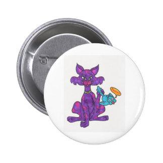 Twitter kitty pinback buttons