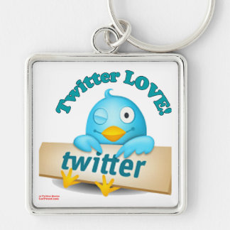 Twitter LOVE Apparel,Gifts & Collectibles Key Chain