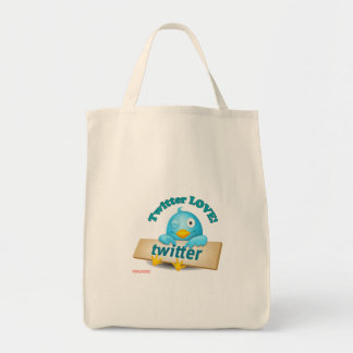 Twitter LOVE Apparel,Gifts & Collectibles Tote Bag
