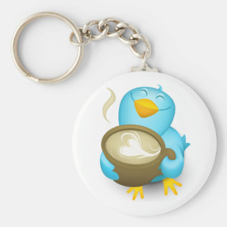 Twitter Mania - Bird cooking.. Key Chains