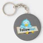 Twitter Mania - Follow Baby Bird Key Chains