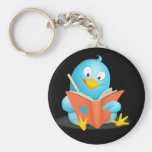 Twitter Mania - Twitter Bird Reading Key Chains