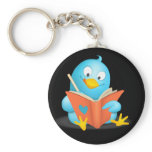 Twitter Mania - Twitter Bird Reading Keychain