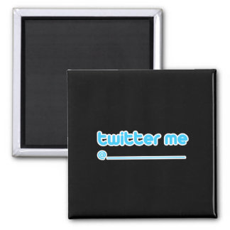 twitter me @ 2 inch square magnet
