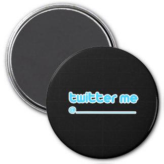 twitter me @ 3 inch round magnet
