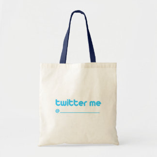 twitter me @ budget tote bag