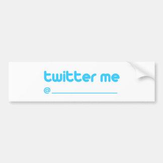 twitter me @ car bumper sticker