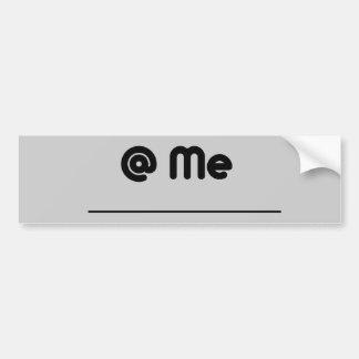 twitter @ me car bumper sticker