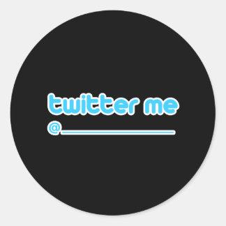twitter me @ classic round sticker