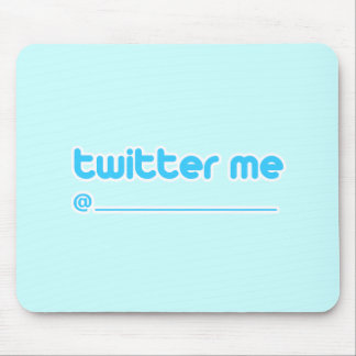 twitter me @ mouse pad