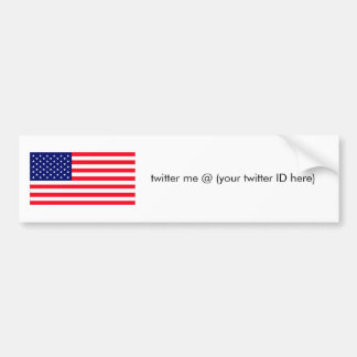twitter me United States Flag The MUSEUM Zazzle Bumper Sticker