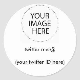 twitter me @ (your twitter ID here) The MUSEUM Classic Round Sticker