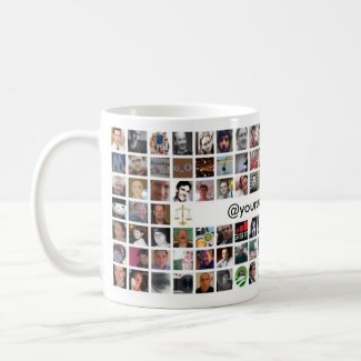 Twitter Mosaic Mug - Customized mug