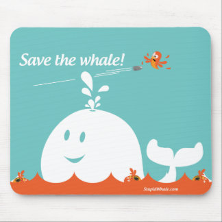 Twitter Mousepad - Fail Whale - Save the Whale